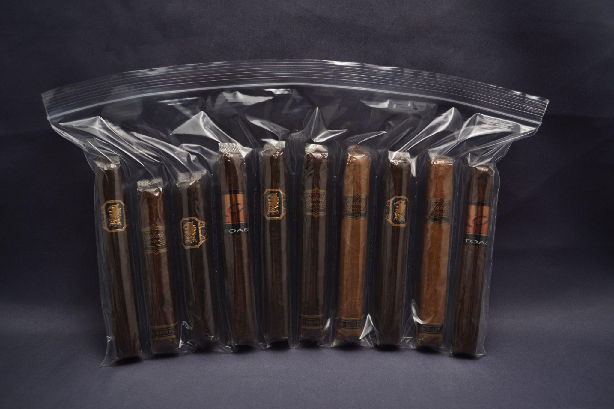 10 Compartment Zipper Lock Cigar Bag 2 MIL (case of 1000)