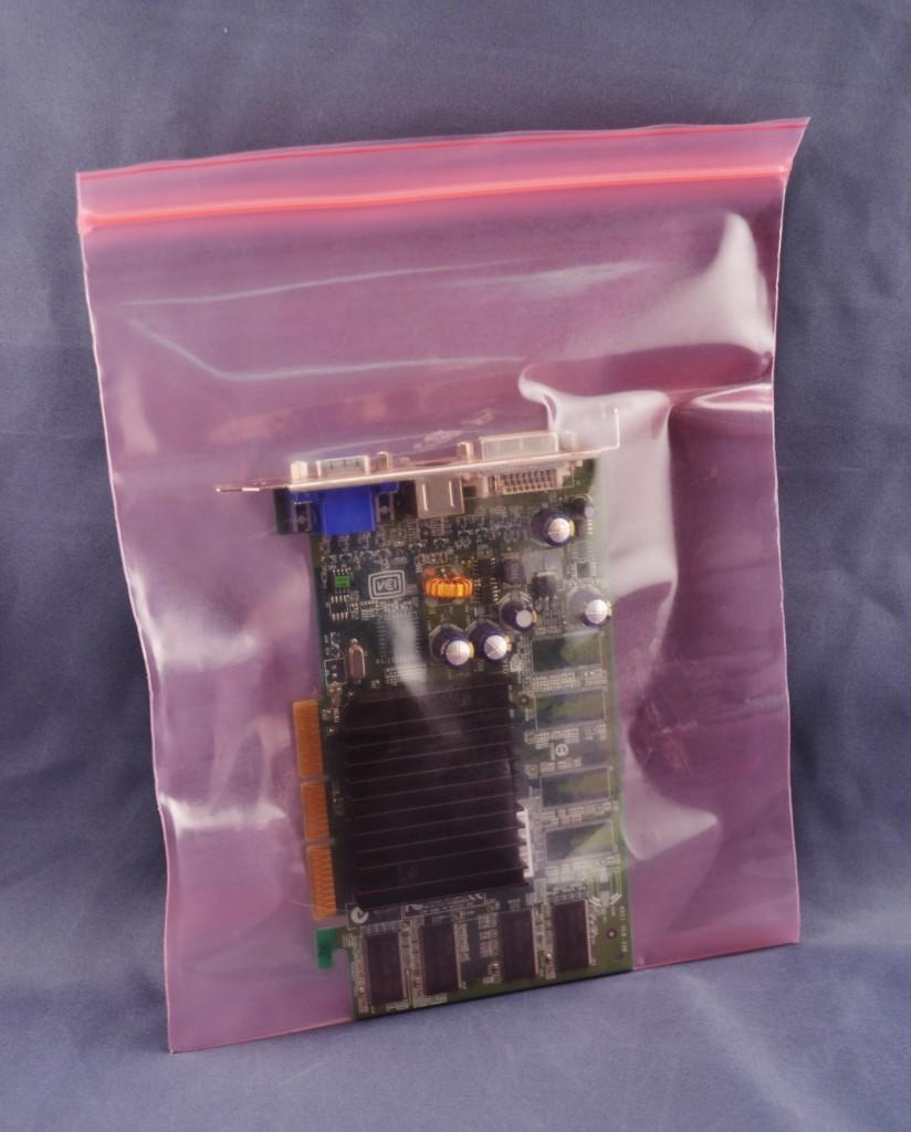 Pink film Anti-Static Reclosable Zipper Lock Bag