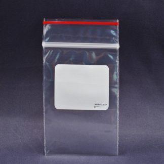 Redline White Block Reclosable Zipper Lock Bags 4mil