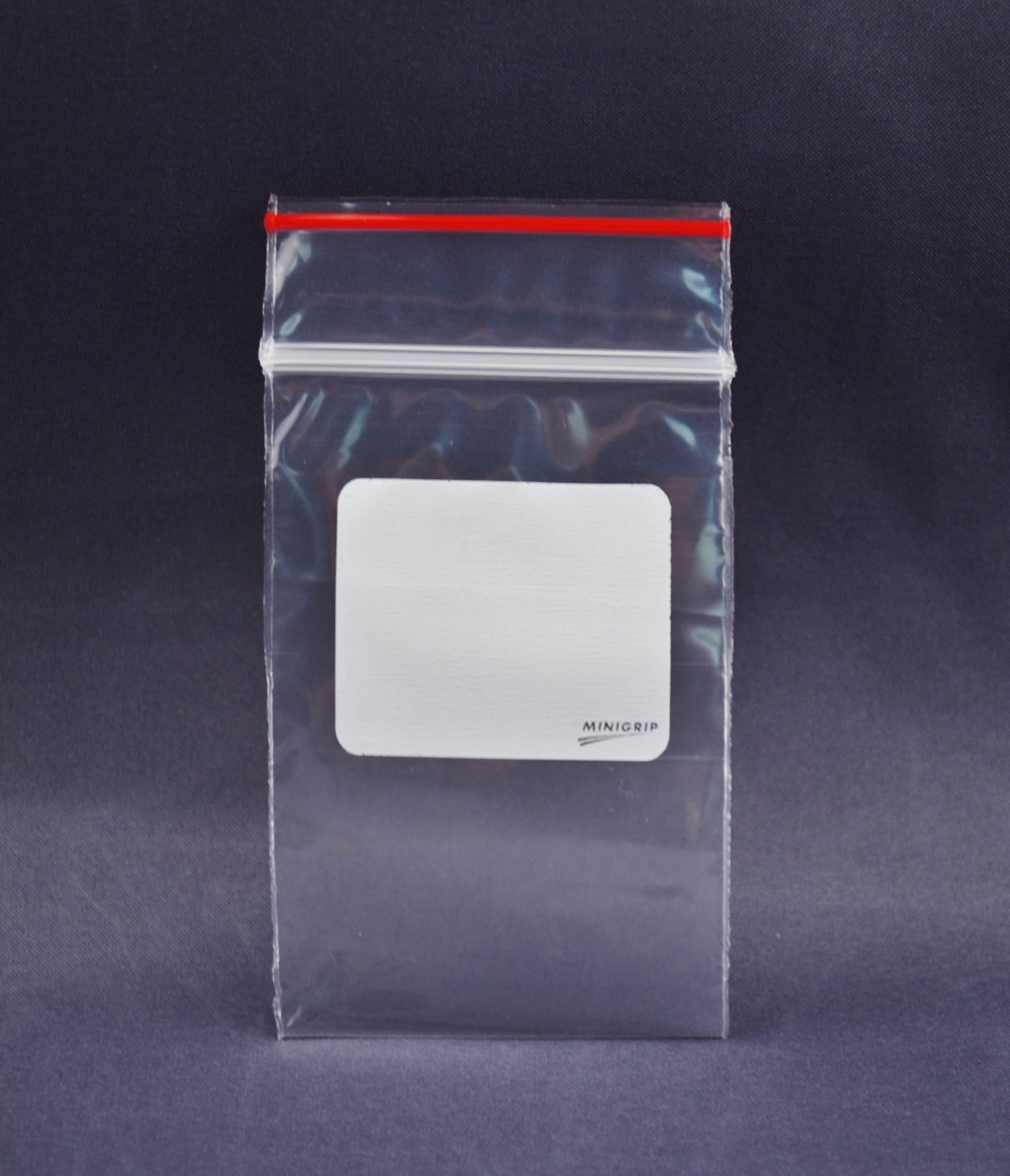 Redline White Block Reclosable Zipper Lock Bag 2mil