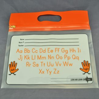 "ZIPAFILE Bag with ""Alphabet"" print – Pack of 25 – Orange Handle"