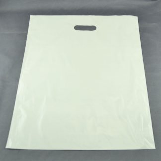 White Carrier bag with die cut handle