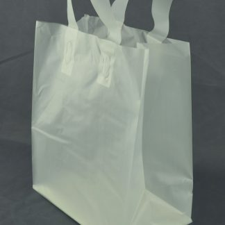 Frosted Loop Handle Shopping Bag 8 x 5 x 10