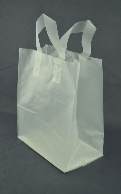 Frosted Loop Handle Shopping Bag