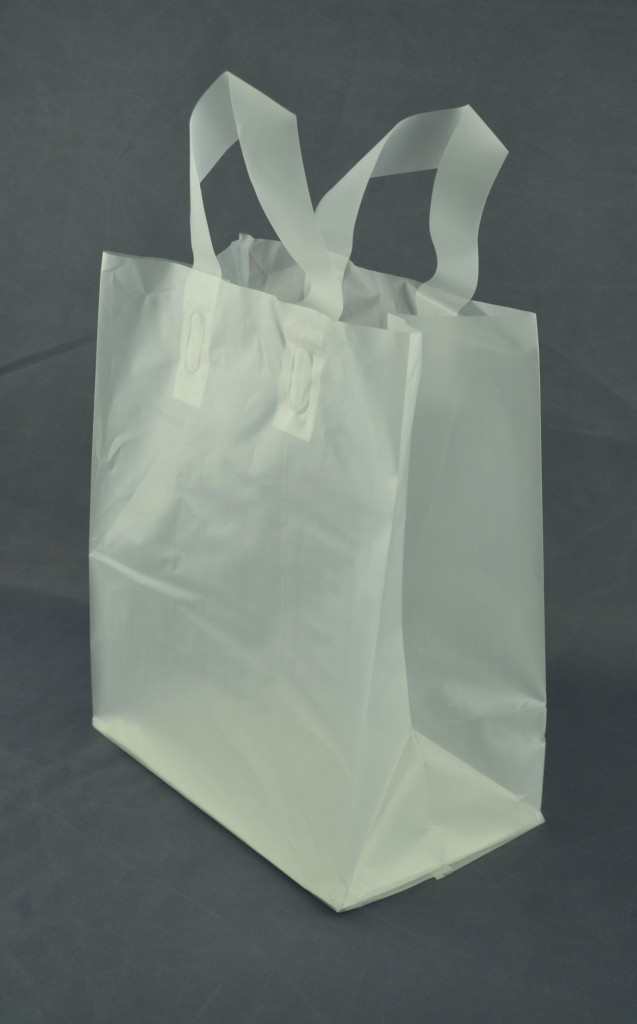 Frosted Loop Handle Shopping Bag 8 x 5 x 10 – Case of 250