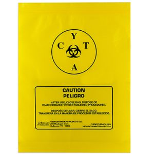 Zip Reclosable Chemotherapy Specimen Transport Bags 12 x 15 – Case of 100