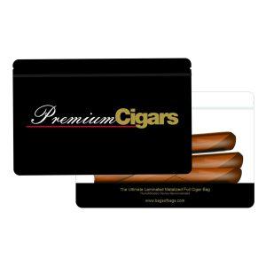 Ultimate Laminated Metalized Foil Premium Cigar Bag