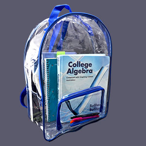Clear PVC Backpack (Case of 25)