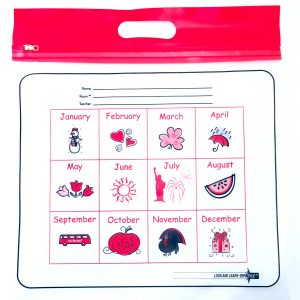 Red Handle Months ZIPAFILE Look and Learn Bag