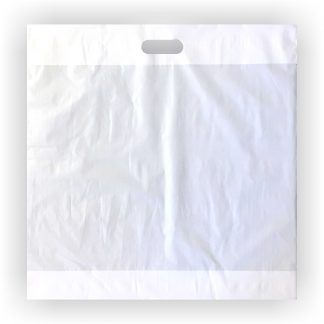 White C Cut Handle Bag 20 x 20 – Case of 500