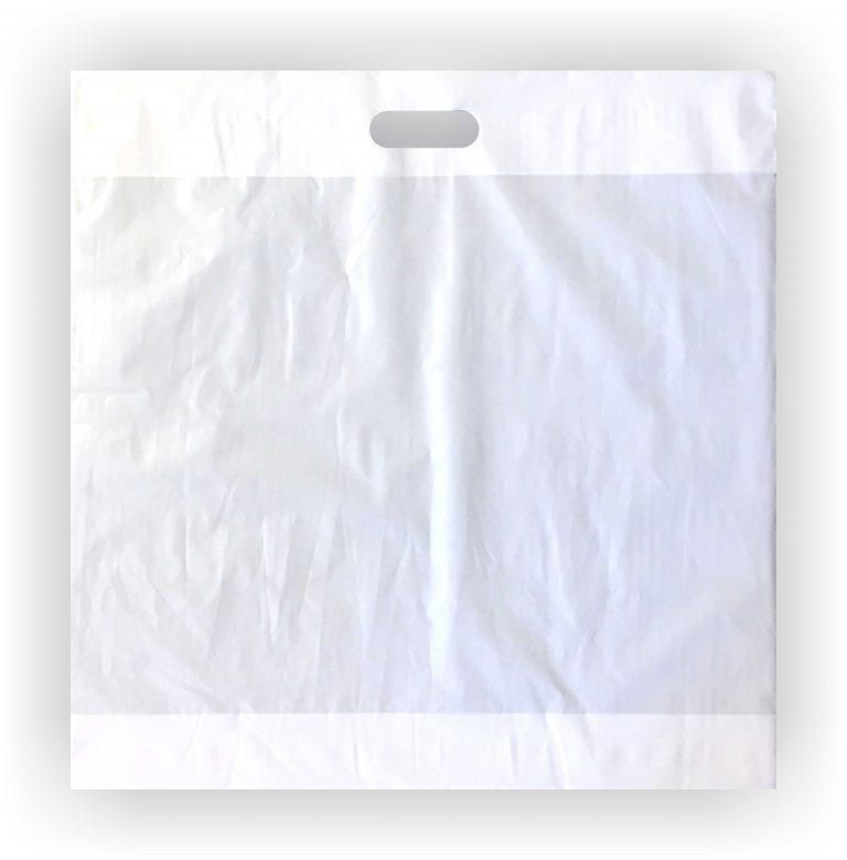 White C Cut Handle Bag 20 x 20 – Case of 500