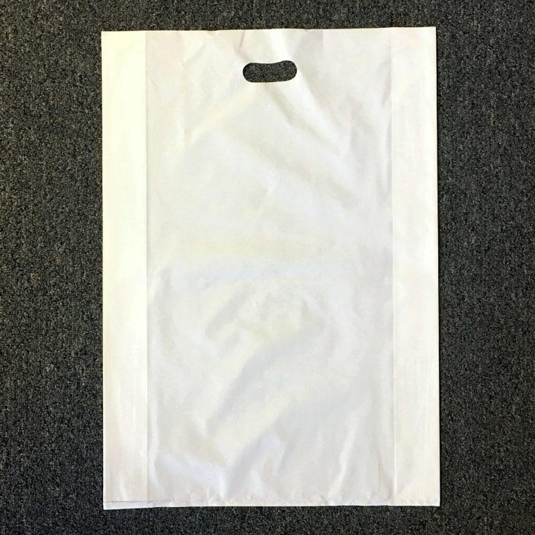 White C Cut Handle Bag 16 x 23 – Case of 300
