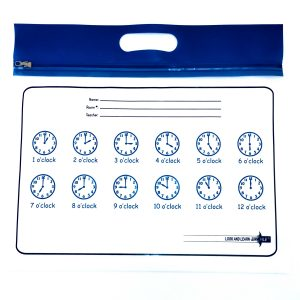 Blue Handle Clocks ZIPAFILE Look and Learn Bag
