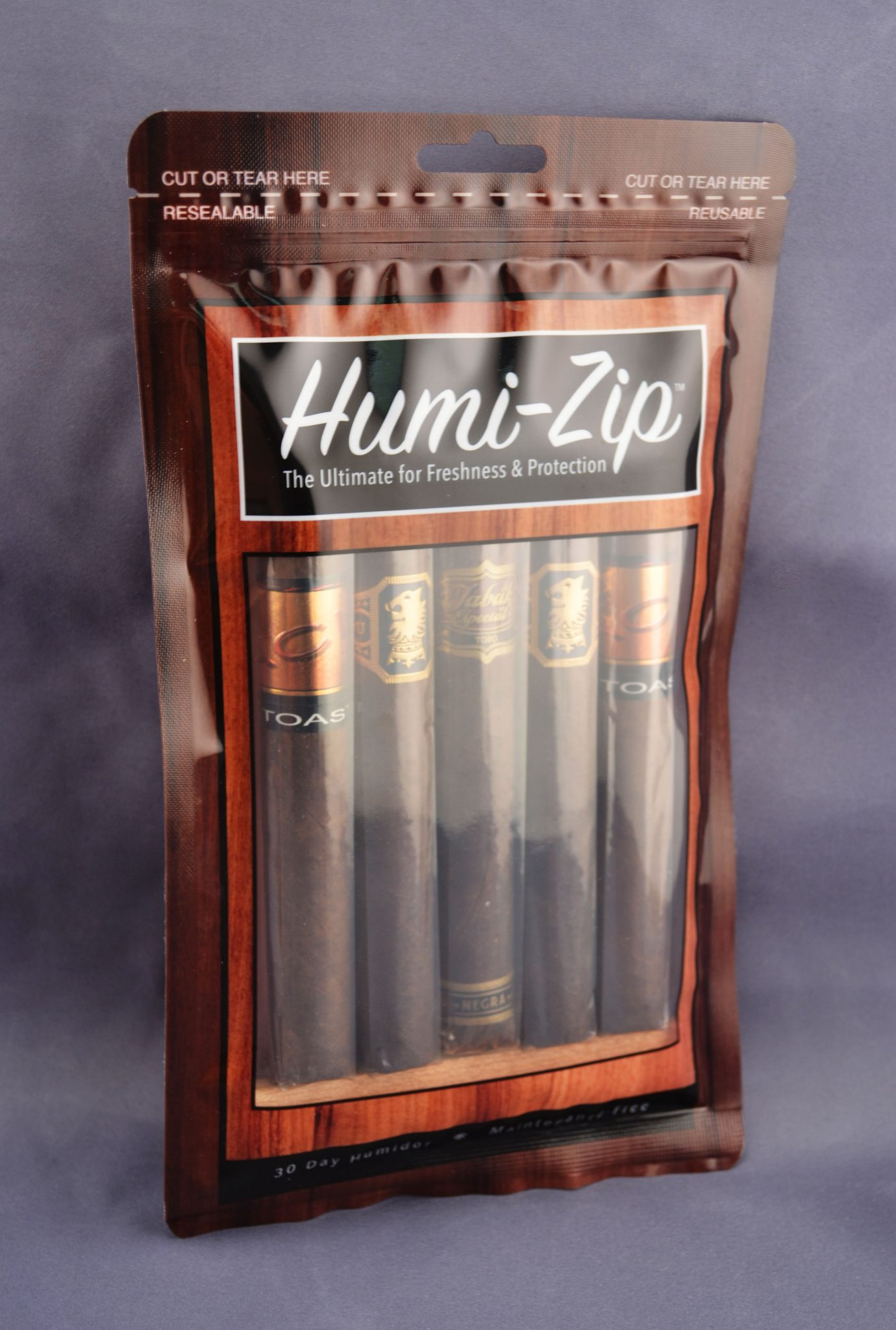 Humi-Zip Reclosable Humidification Cigar Bag 4 MIL – Pack of 100